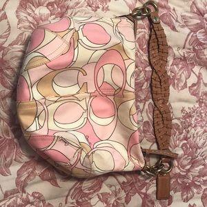 Pink Coach hobo bag